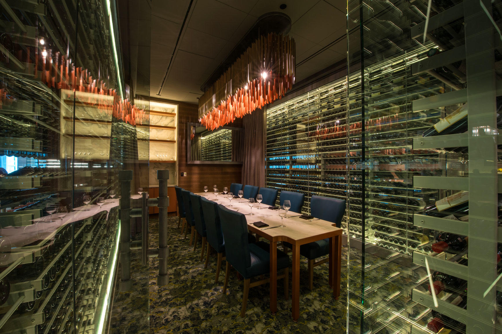 Del Frisco's Double Eagle Steakhouse Boston Rothschild Room private dining room