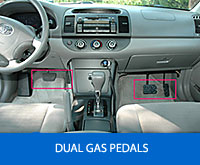 Picture of Dual Controls in one of our older vehicles that is not longer with us.