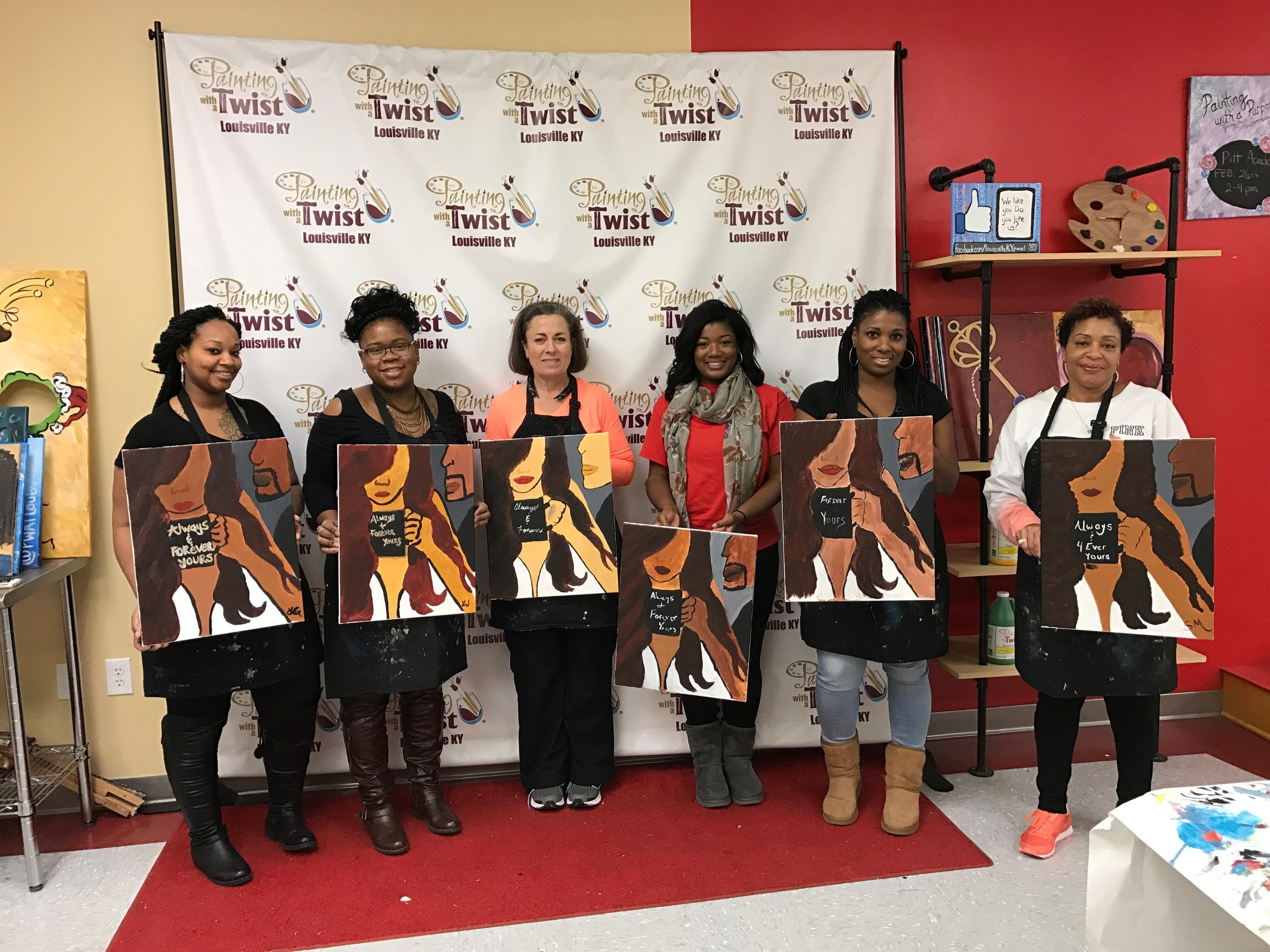 Painting with a twist in louisville ky 40245 for Paint and sip louisville co