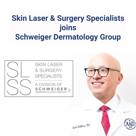 Schweiger Dermatology Group announces Skin Laser & Surgery Specialists of New York and New Jersey (SLSS), founded by Dr. David J. Goldberg, has joined its practice.
