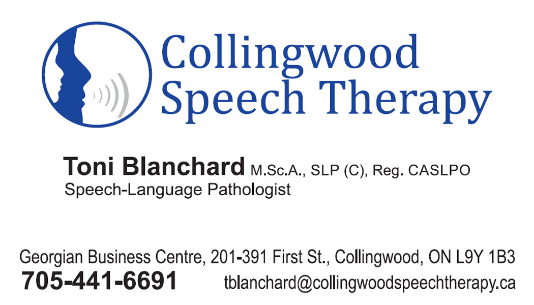 Collingwood Speech Therapy Collingwood (705)441-6691