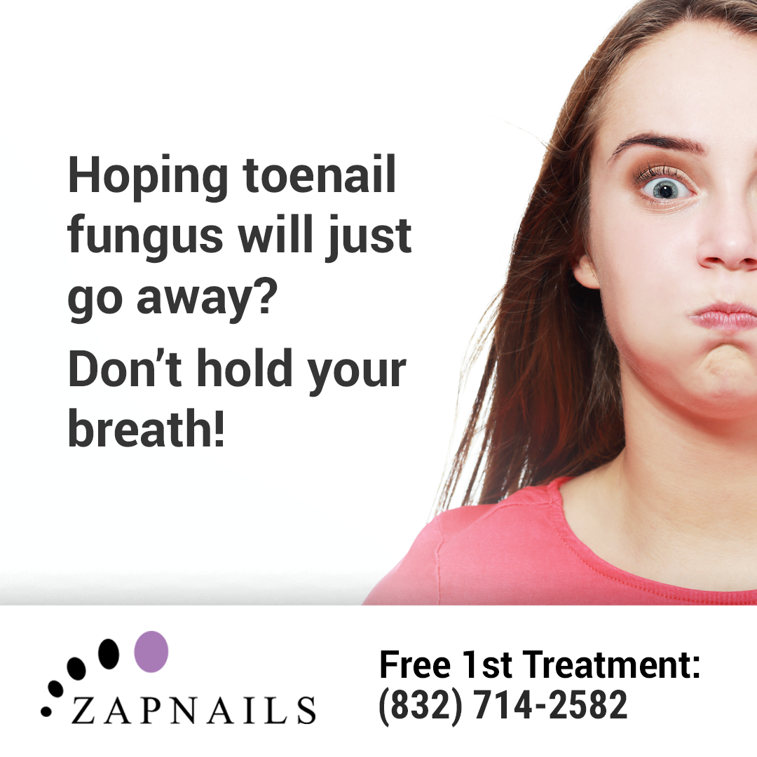 Toenail fungus doesn't just get better. Thankfully, you have ZapNails...Our laser treatment is the most effective way to clear nail fungus. (832) 714-2582