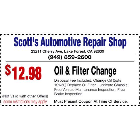 Chevrolet repair coupons