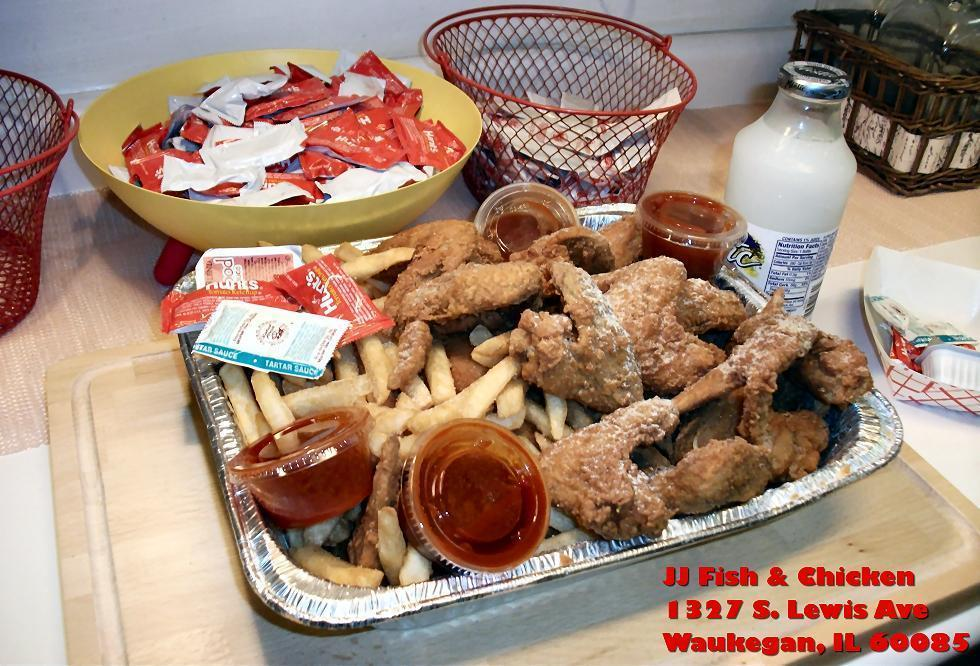 Jj fish chicken in waukegan il 60085 for Jj fish chicken menu