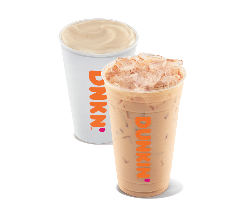 Dunkin' Hot Chai Latte and Iced Chai Latte
