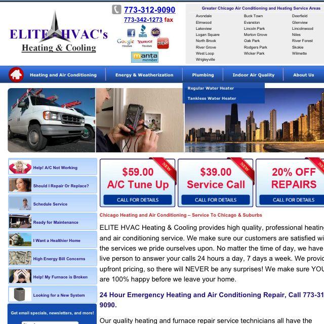 Elite Hvacs-  Full service Heating & Cooling