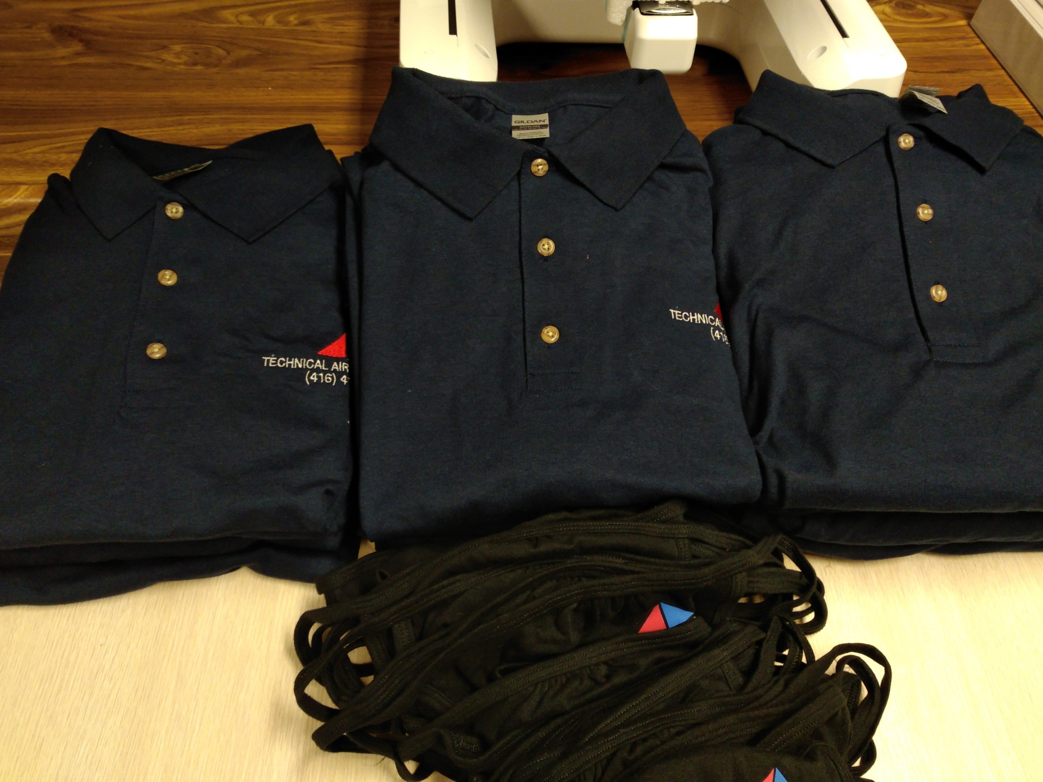 Just My Lids in Scarborough: We do custom embroidery on polo shirts for small or large businesses. We accept small or large orders.