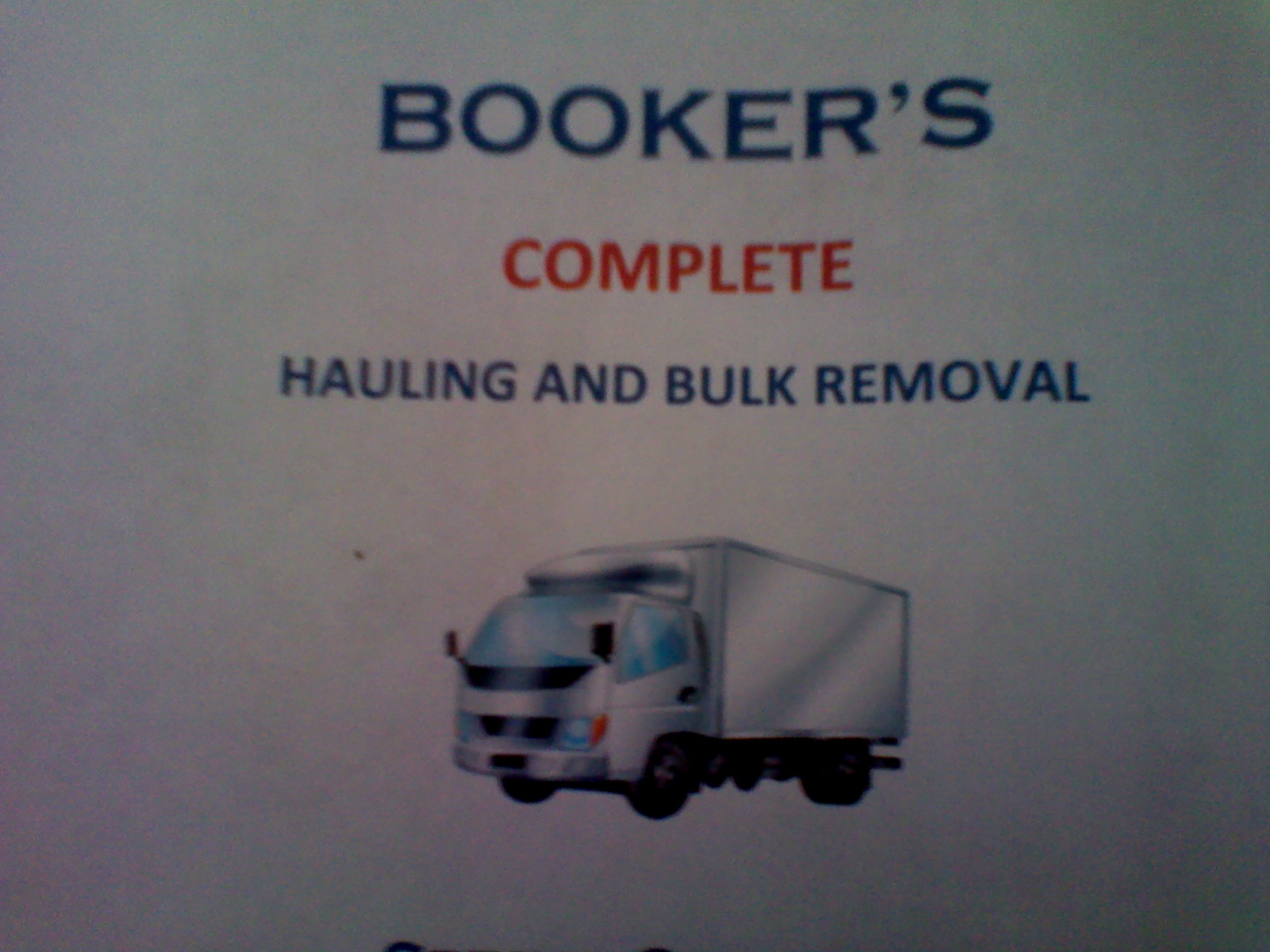 Booker's Complete Hauling