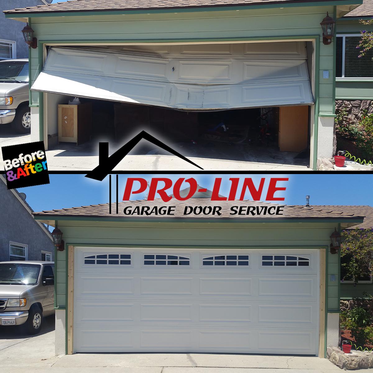 pro line garage door service in downey ca 90241. Black Bedroom Furniture Sets. Home Design Ideas