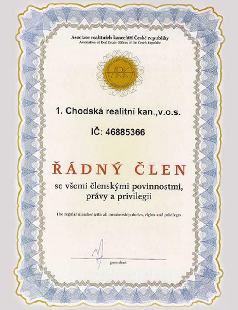 1. CHODSKÁ REALITNÍ KANCELÁŘ v.o.s.