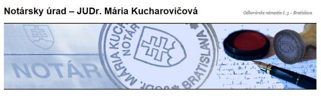 KUCHAROVIČOVÁ MÁRIA, JUDr.