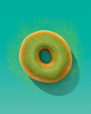 Dunkin's Matcha Topped Donut