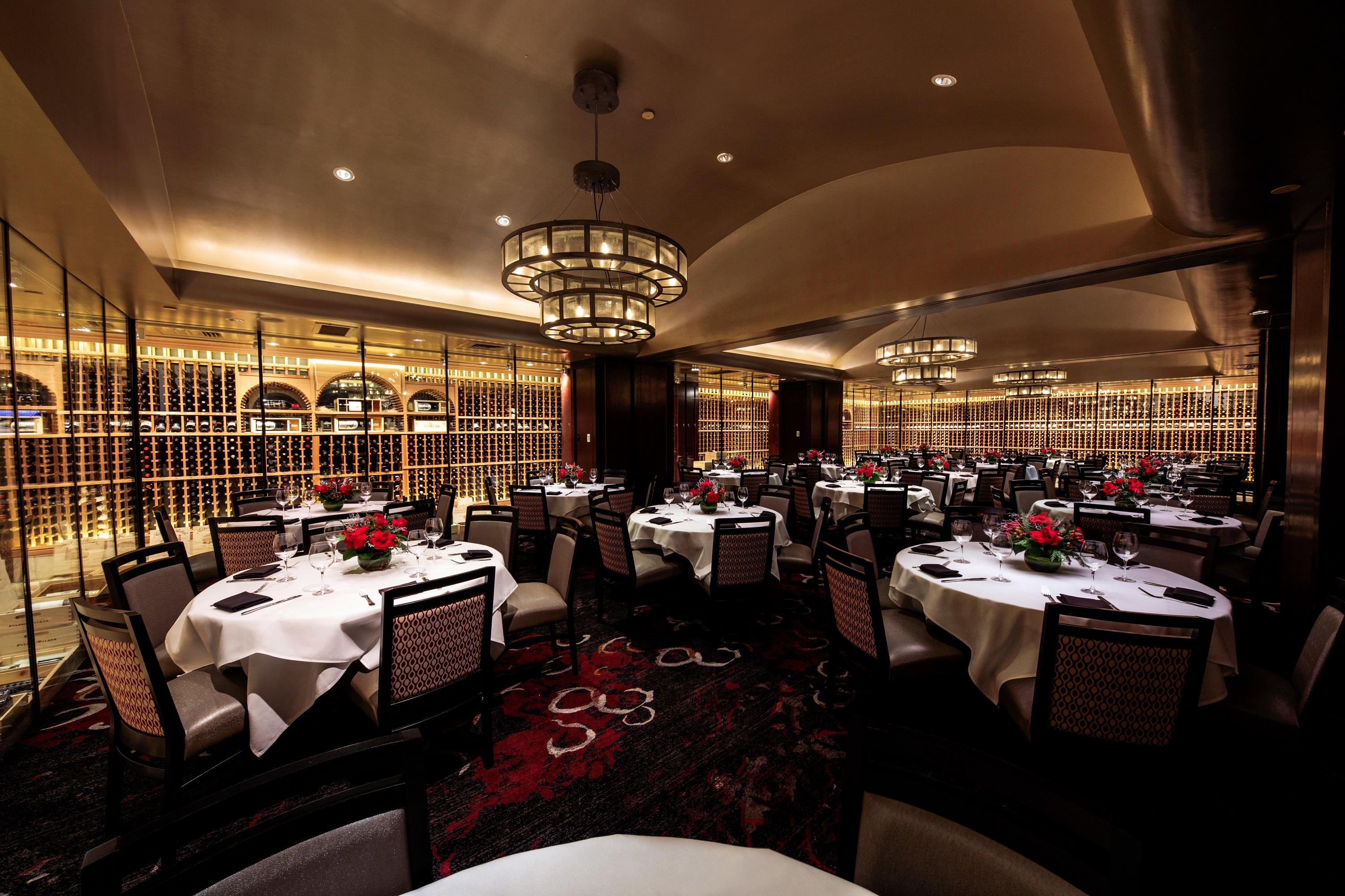 Del Frisco's Double Eagle Steakhouse Houston The Wine Cellars private dining room