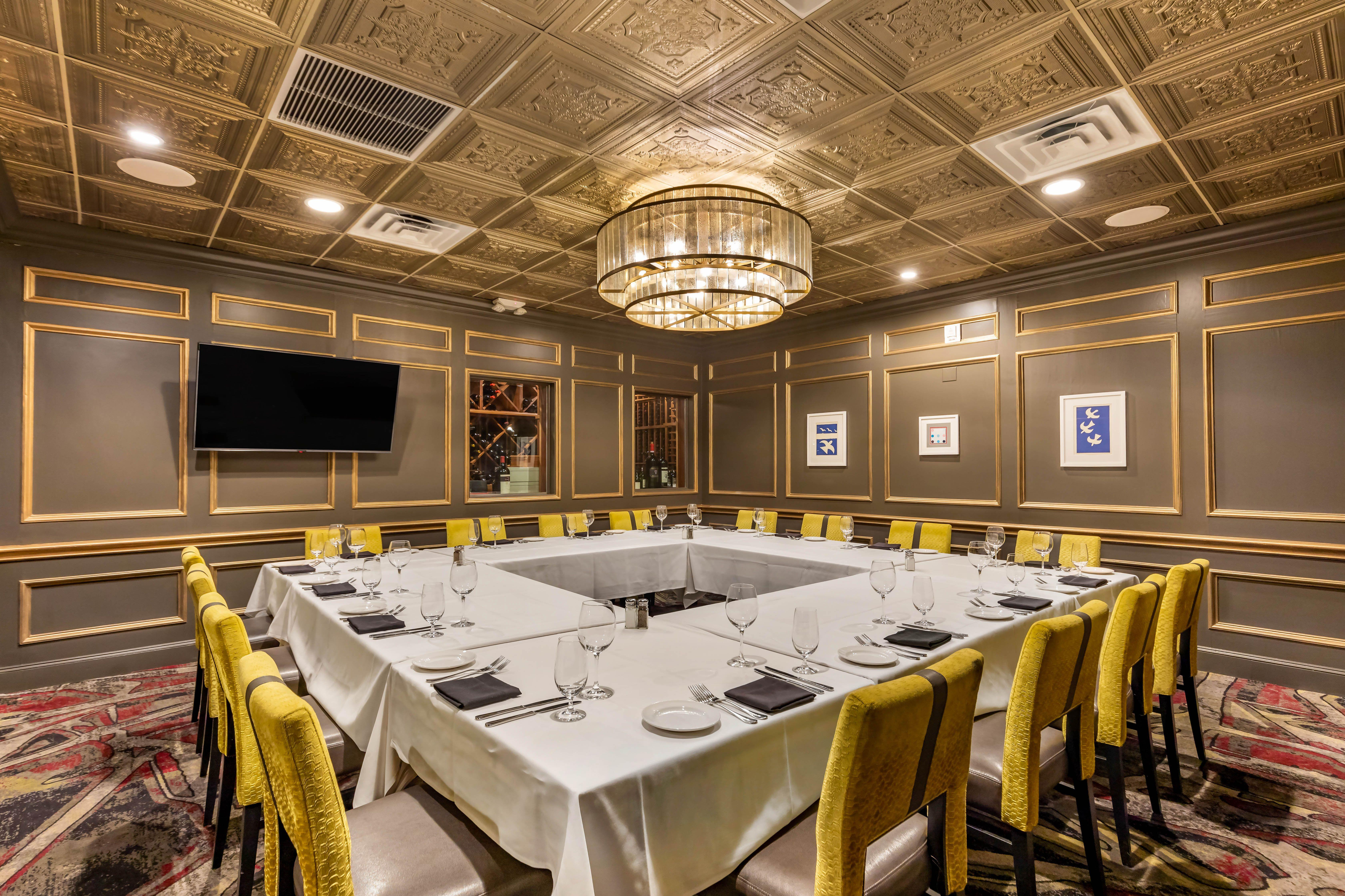 Del Frisco's Double Eagle Steakhouse Las Vegas The Vesper Room private dining room
