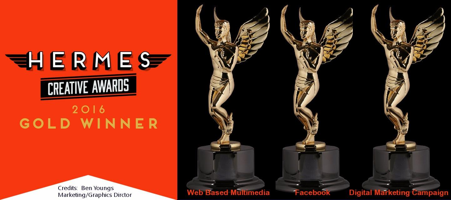 A. Hoffman Awning is proud to announce being awarded   3 Gold Awards by Hermes 2016 Creative Awards.  Gold awarded for Digital Marketing Campaign, Web Based Multimedia and Facebook.  This adds to the 2 gold awards won in 2015 by 2015 Herrmes Creative Awards.   Credits:  Ben Youngs: Marketing/Graphics Director.