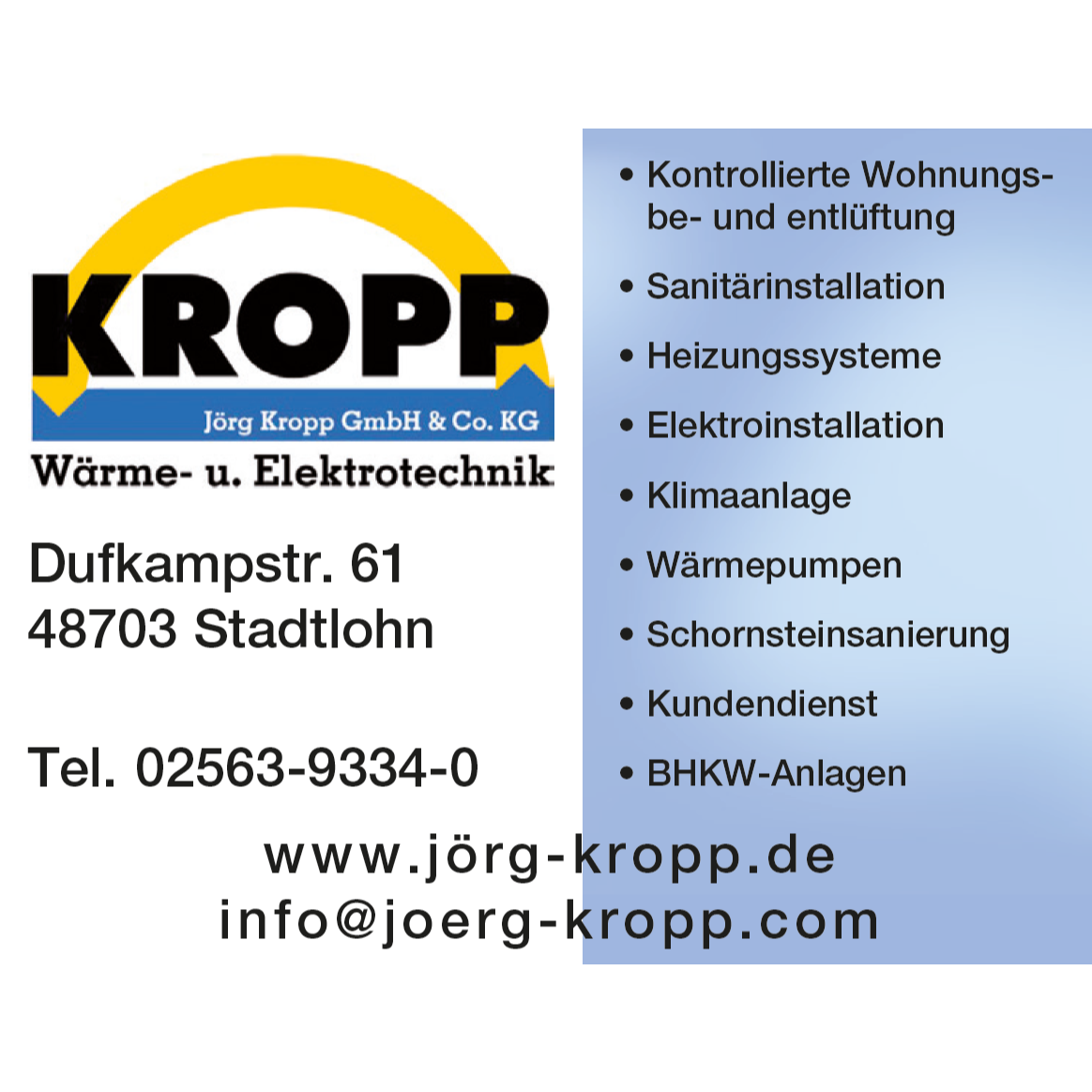 Bild zu Jörg Kropp GmbH & Co. KG in Stadtlohn