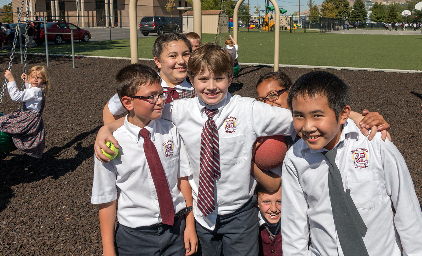 With easy freeway access for commuters and near to all the great downtown activities, Challenger's Salt Lake private school campus features safety gates and a security guard, a diverse student body, and a feeling of energy and fun. When they're in season, you can even catch a Salt Lake Bees game next door! Drop in and check out our well-maintained and clean campus and playground, see our impressive student work boards, and meet our friendly staff.