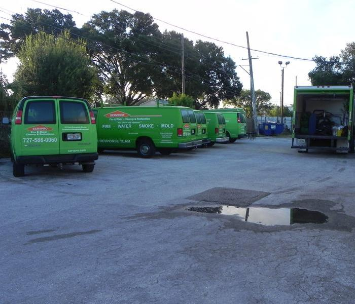 Ah, those green trucks. Once you see one you'll never forget it! Then it seems like they start appearing all over the place. On the road, at your neighbors house, at condominiums, commercial properties...almost anywhere there is a disaster, there's a green van full of clean! Thats because SERVPRO has grown to over 1600 franchises nationwide. Chances are your town has one too. Next time you, or someone you know has a fire, flood or other event, call the company thats faster to any disaster.