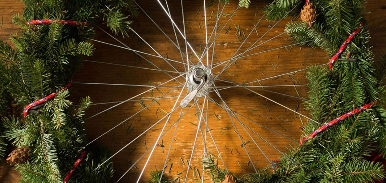 Holiday DIY: Make a Bike Wheel Wreath