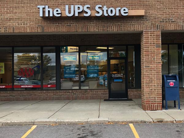 front of the ups store at 2843 E Grand River