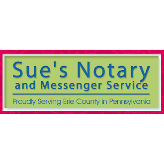 Sue's Notary & Messenger Service - Erie, PA - Notaries