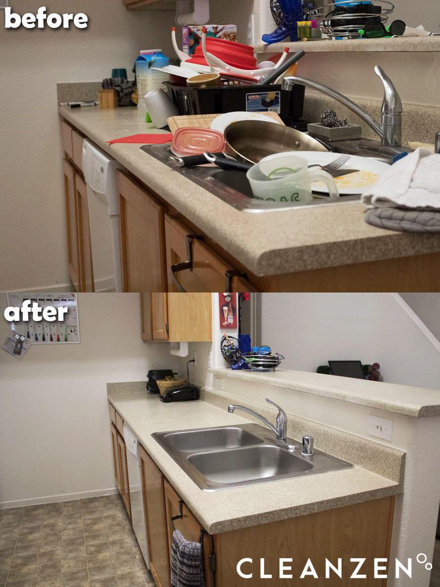 Kitchen Cleaning Organization