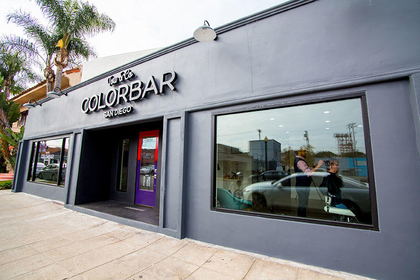 Our storefront ColorBar San Diego San Diego (619)795-7070