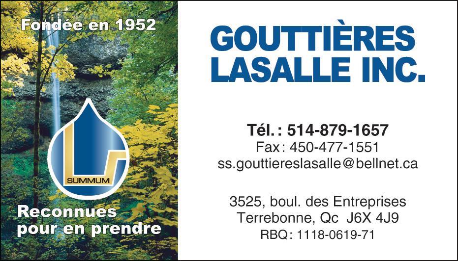 Gouttières Lasalle Inc