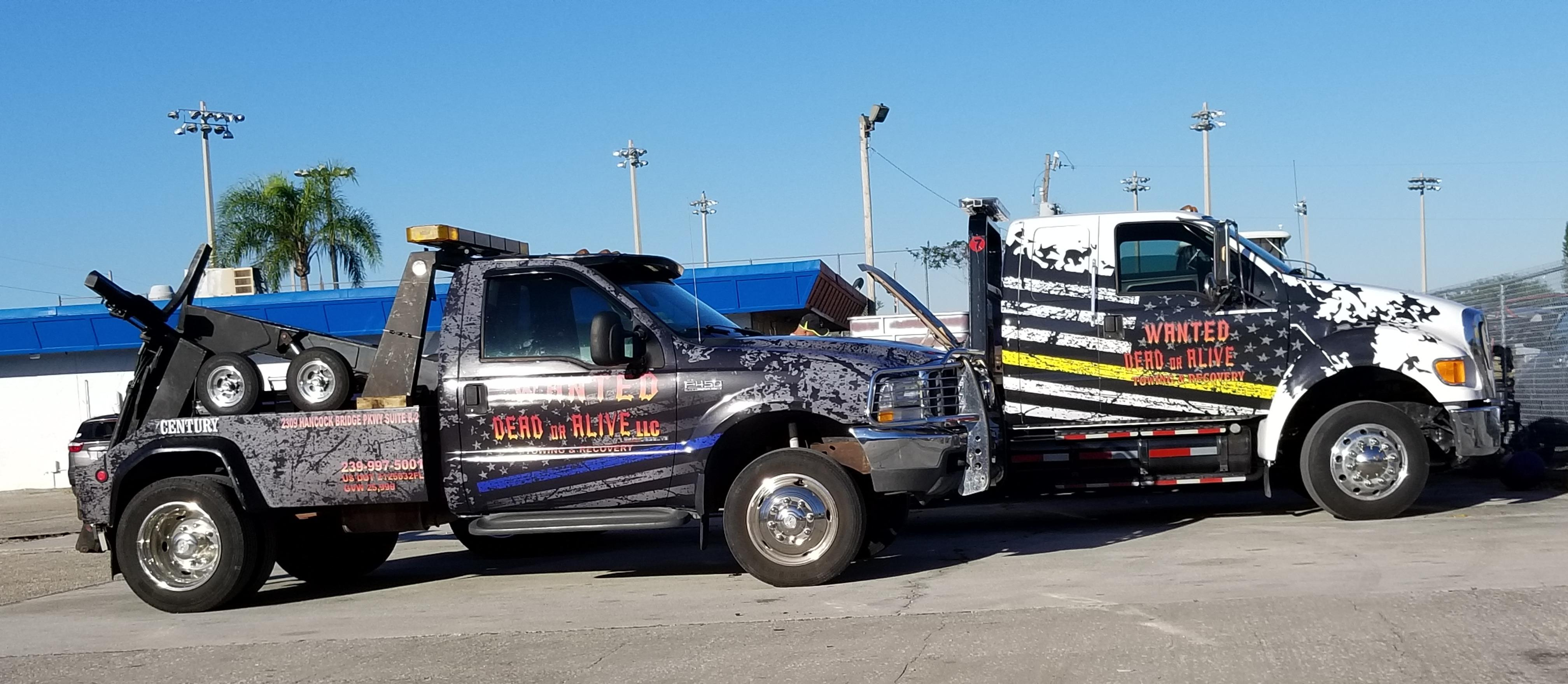 Wanted Dead or Alive Towing & Recovery L.L.C. - Cape Coral, FL 33990 - (239)997-5001 | ShowMeLocal.com