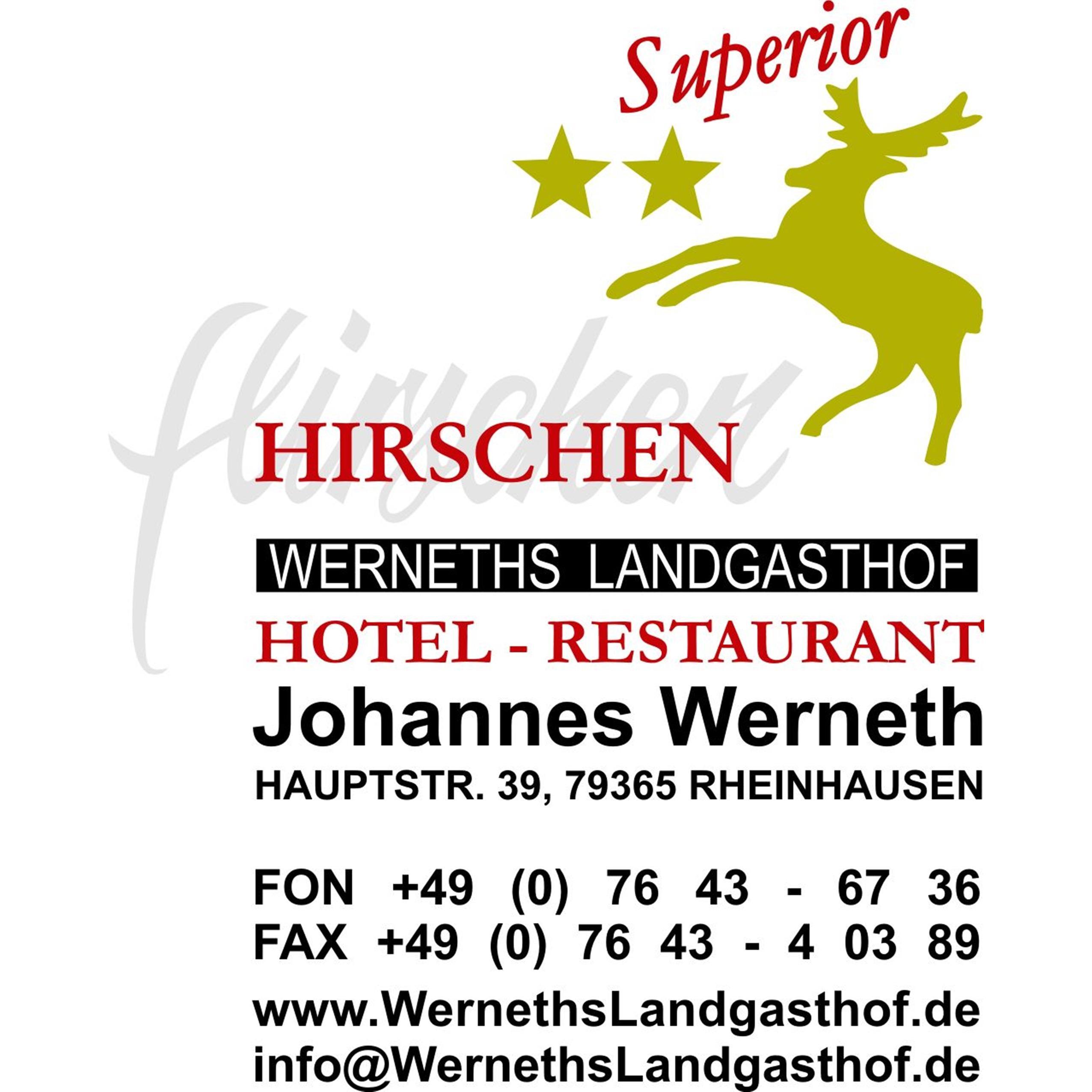 Hotel - Restaurant Werneths Landgasthof Hirschen **s - beim Europa- Park Rust