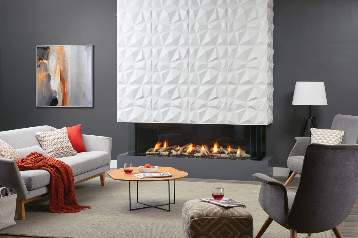 Fireplace Gallery in Edmonton: Regency City Series San Francisco Bay 60 - 3 Sided Gas Fireplace