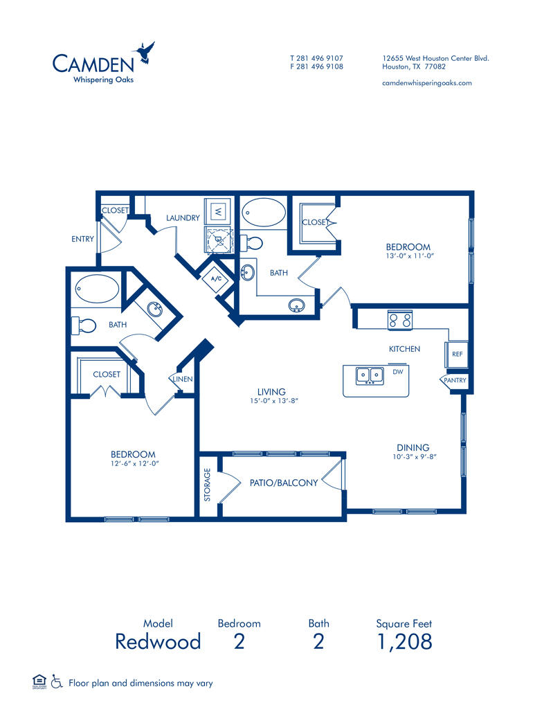 Camden Whispering Oaks Apartments 12655 W Houston Center Blvd Houston Tx Apartments Mapquest