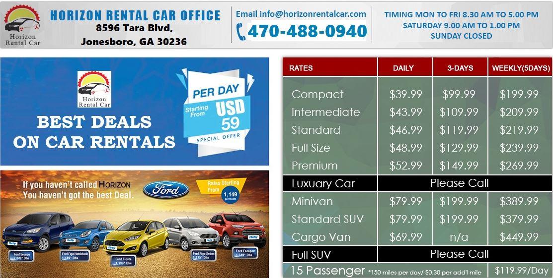 Horizon Rental Car Jonesboro Ga