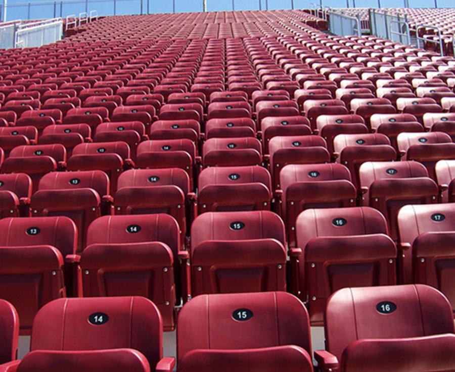 Lefko Produits De Plastique Inc in Magog: Stadium plastic seats