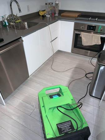 When your dishwashers supply line connection cracks, the damage can be devastating. SERVPRO of Brickell is always ready to respond.