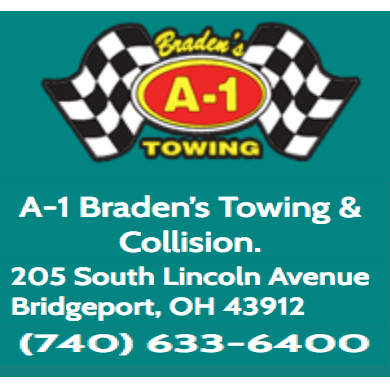 A-1 Braden's Towing & Collision Repair - Bridgeport, OH - Auto Towing & Wrecking