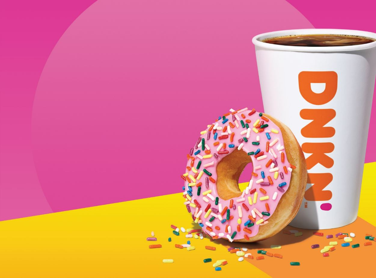 Dunkin' Sunrise Batch Coffee with Donut