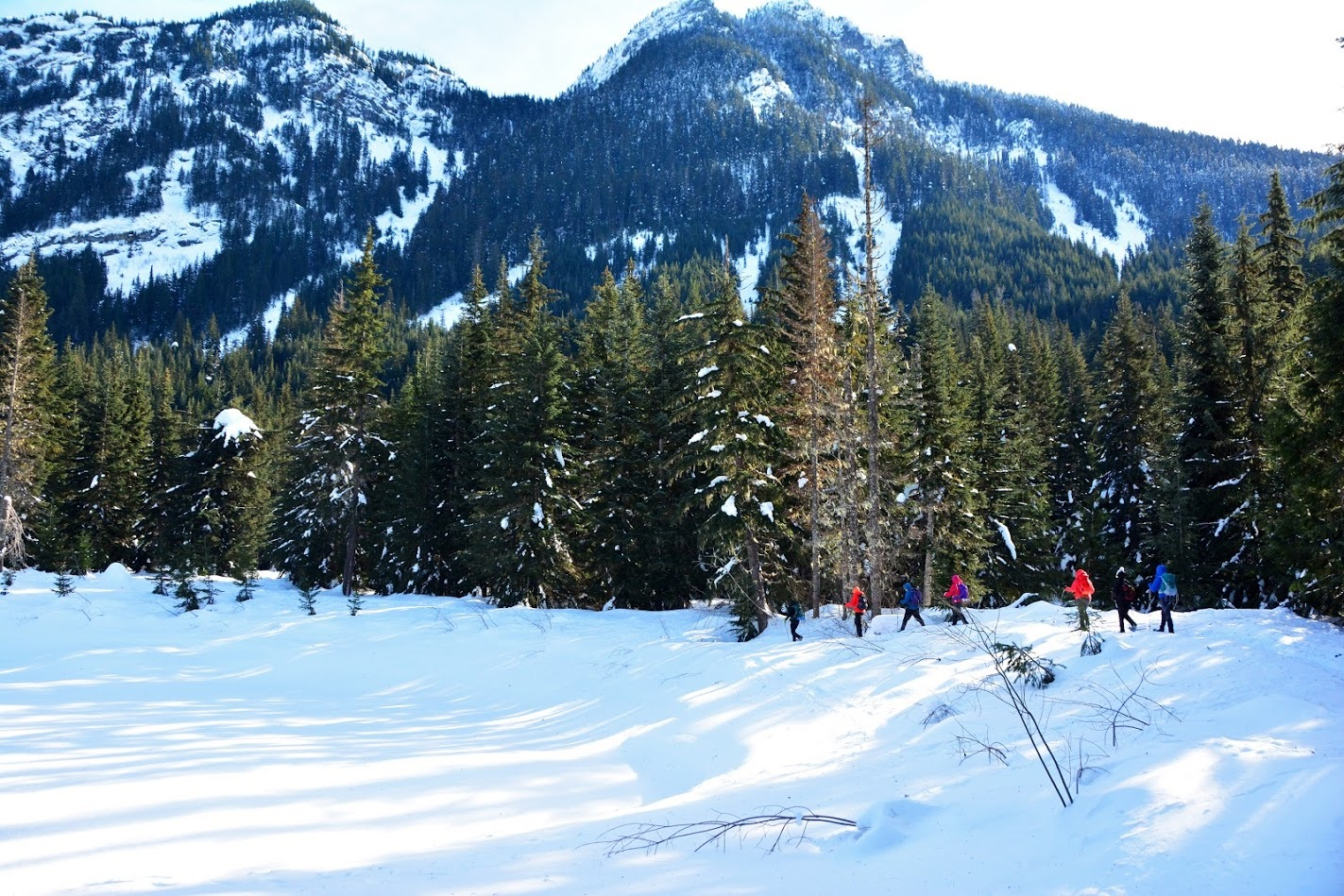 Snowshoeing Gold Creek Pond at Snoqualmie Pass