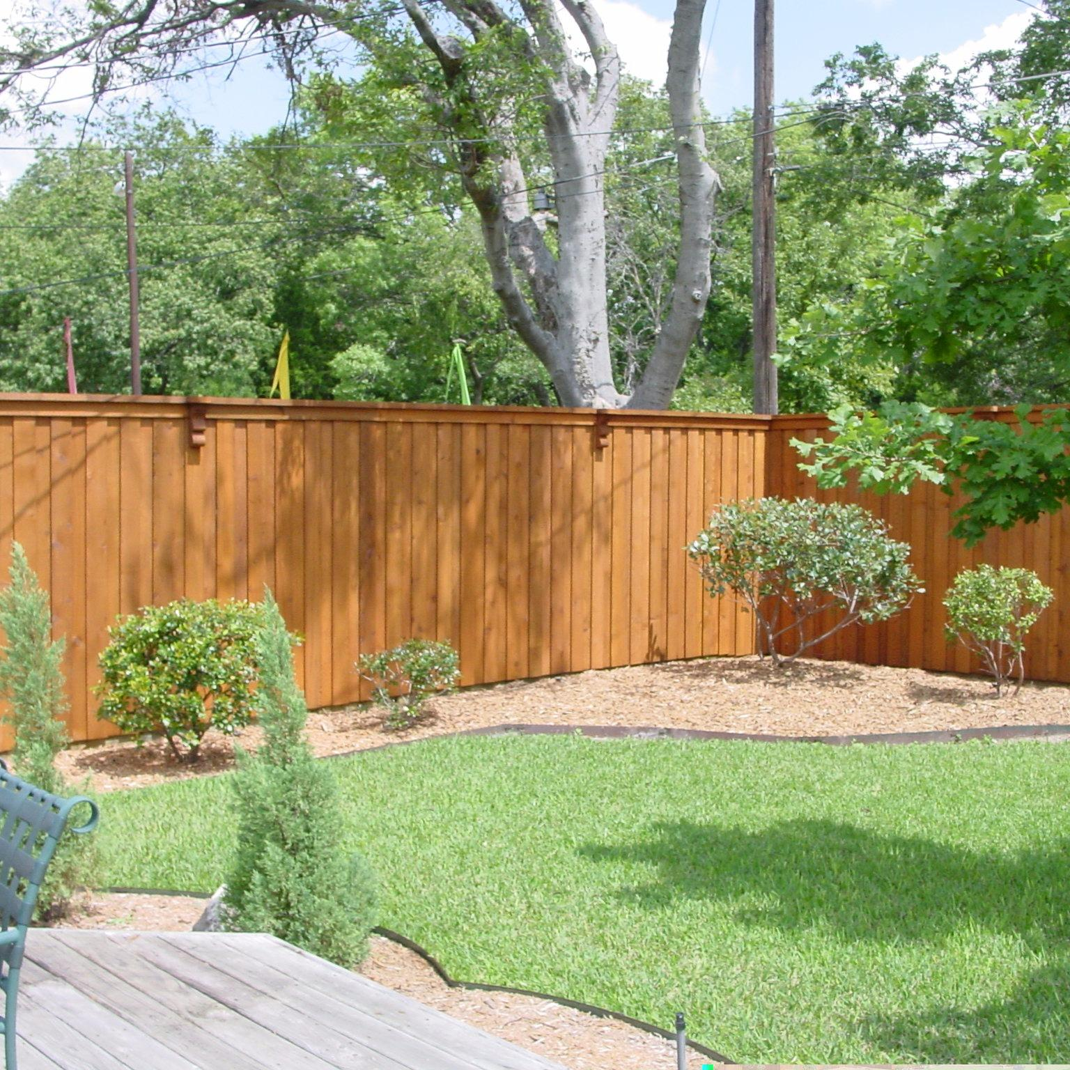 Northlake fence and deck