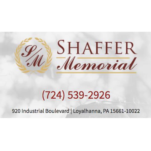 Shaffer Memorial - Loyalhanna, PA - Funeral Memorials & Monuments