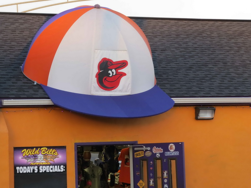 A Hoffman Awning in Baltimore     410-685-5687 http://ahoffmanawning.com/retractable-awnings/Graphics     Creative Sports Awning for storefront in Baltimore Call 410-685-5687