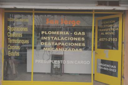 SAN JORGE - GAS - PLOMERÍA - DESTAPACIONES