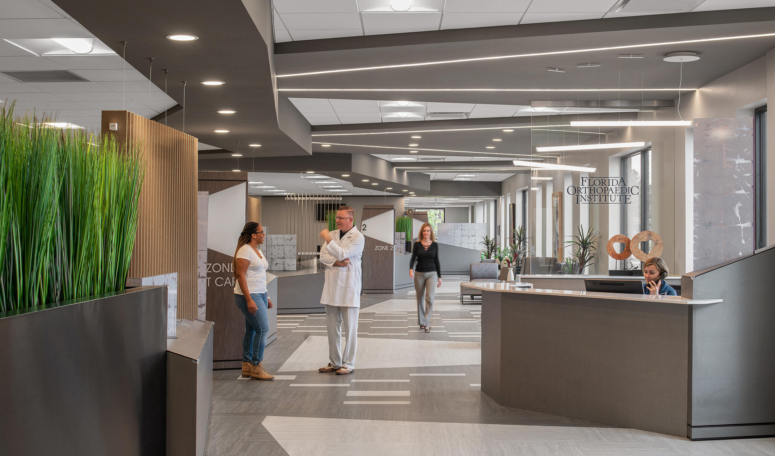 Interior of Florida Orthopaedic Institute & Orthopaedic Urgent Care Brandon Office