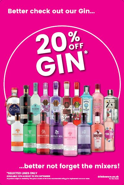 20% off selected Gin lines! Bargain Booze Plus Liverpool 01515 318988