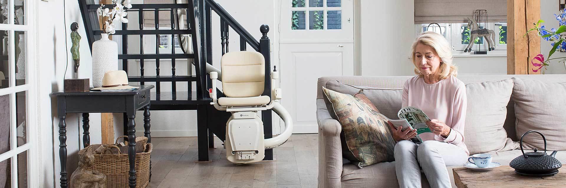 Handicare San Jose Kraus Curved FreeCurve 2000 stair chair Oakland ca Lift