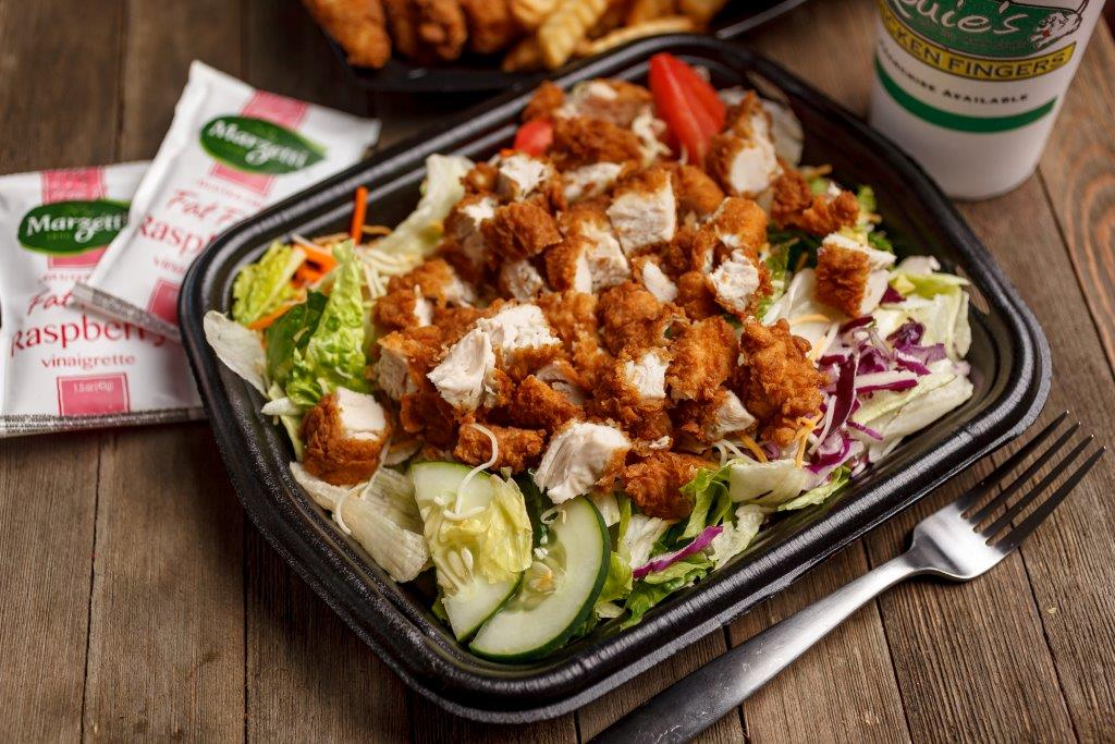 Crisp, tasty salads with fried or grilled chicken