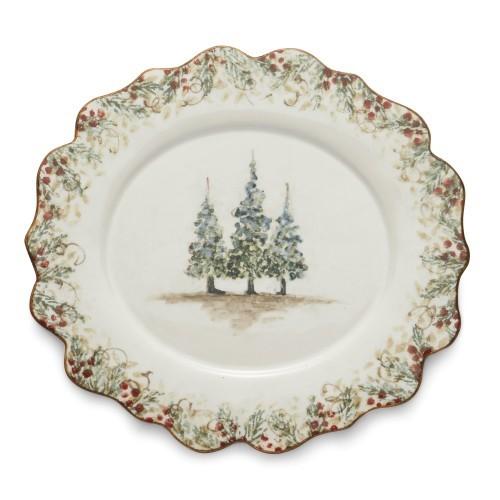 Arte Italica Scalloped Oval Plate