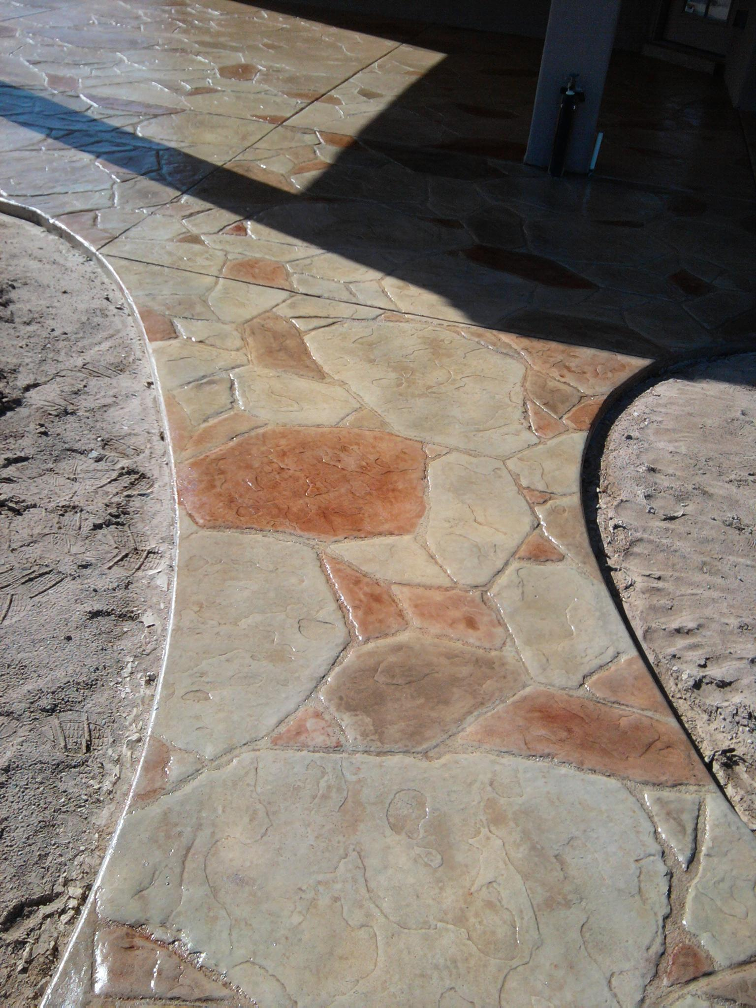 Concrete Overlay Random: M & M Custom Construction Inc In Las Cruces, NM