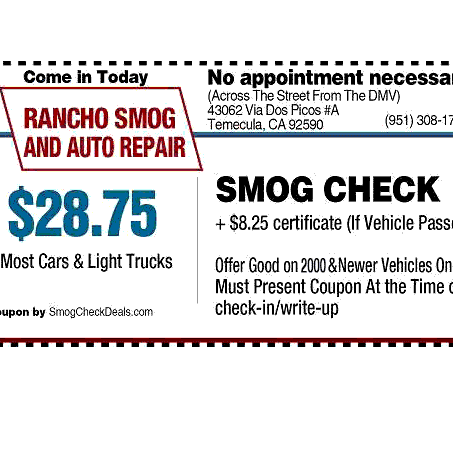 Rancho Smog And Auto Repair - Temecula, CA - General Auto Repair & Service
