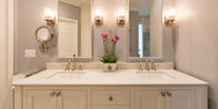 Revamp your bathroom with custom cabinetry.
